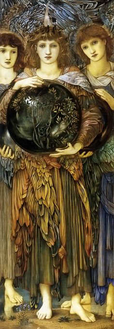 Edward Burne-Jones - (British Pre-Raphaelite Painter, 1833-1898) -- The Third Day of Creation.