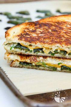 Jalapeno Popper Herb Grilled Cheese (vegan, gluten-free option) - Vegetarian Gastronomy