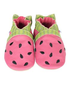 Look what I found on #zulily! Fuchsia Watermelon Leather Bootie #zulilyfinds