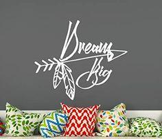 <3 <3 <3 <3 Dream Big <3 <3 <3 <3 Wall Decals Boho Arrows Quote Bedroom Stickers Nursery Vinyl Stickers Bohemian Decor T28 (38 cm x 44 cm) (affiliate)