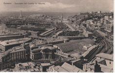 C'ERA UNA VOLTA GENOVA - Railway station (Stazione Principe), Palazzo del Principe, and maritime station around 1930.