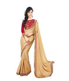 Samarth fashion GhostBrown and Beige Satin Saree Satin Saree, Saree Wedding, Indian Sarees, Sarees Online, Designer Wear, Lehenga, Party Wear, Ethnic, Sari