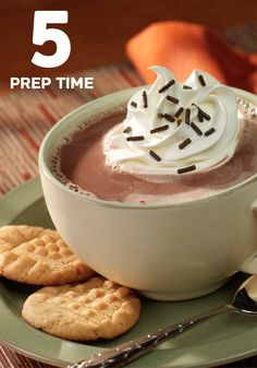 Peanut Butter Hot Chocolate... a yummy treat after dinner.