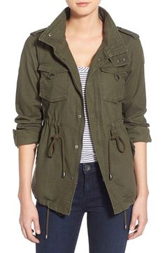 Pleione Linen & Cotton Blend Military Jacket (Regular & Petite) available at #Nordstrom
