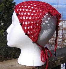 Free Crochet Hair Kerchief Patterns : ... crochet kerchief on Pinterest Head scarfs, Crochet and Bandanas