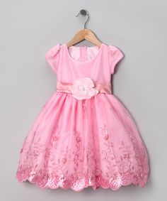 Take a look at this Kid Fashion Pink Embroidered Dress - Infant, Toddler & Girls by Kid Fashion on #zulily today!