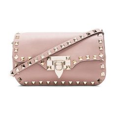 "Rockstud crossbody bag by Valentino. Genuine leather with canvas lining and gold-tone hardware.  Made in Italy.  Measures approx 7.5""""..."