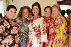 Real life Sample 4 - Bridesmaids Robes made From E9  Fabric Pattern