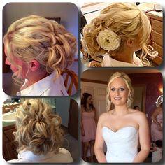 Bridal Hair & Makeup   Done by me at Sassy Shears