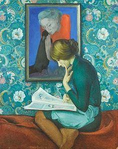 A Student of Art History (1972)  Ivan Stepanovich Ivanov-Sakachev (Russia, 1926-1980)