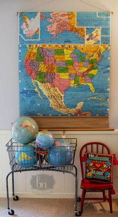 I want an old laundry cart SO BAD.  Love it filled with the old globes off their stands.