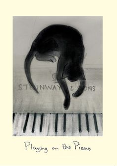Playing on the Piano - a Drawing enhanced in photoshop, byt Julian Williams for Noriko Ogawa's (pianist) charity work helping victims of teh Great Eastern Japan Earthquake and Tsunami.  Also a card by Two BAd Mice