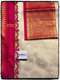 Saree Tassel Saree Tassels Designs, Saree Kuchu Designs, Wedding Saree Blouse Designs, Silk Saree Blouse Designs, Half Saree Lehenga, Lace Saree, Bridal Silk Saree, Fancy Sarees Party Wear, Kanjivaram Sarees Silk