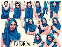 Segiempat Hijab Tutorial For Summer