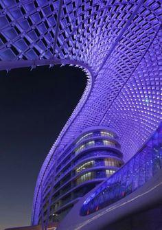 Architecture in indigo.