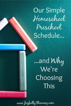 Our Simple Homeschool Preschool Schedule - What a refreshingly honest look at…