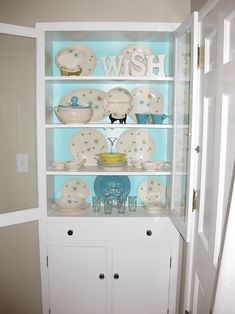 China cabinet...i want to do this in the current closets in the dining room