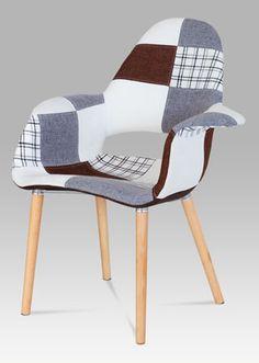 CT-734 PW2  Moderní designová židle v oblíbeném provedení patchwork, nohy jsou z masivního dřeva v přírodním odstínu s černým kovovým výpletem. Tyto židle budou perfektním designovým doplňkem jídelen, kuchyní, kanceláří, apod. Nosnost této židle je do 110 kg. Outdoor Chairs, Outdoor Furniture, Outdoor Decor, Design, Home Decor, Scrappy Quilts, Card Stock, Homemade Home Decor, Garden Chairs