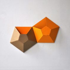 Wallpockets Orange Set Of 2, $15, now featured on Fab.