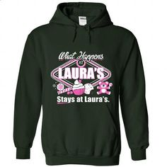 What happens at Lauras Stay At Lauras - #oversized tshirt #sweaters for fall. CHECK PRICE => https://www.sunfrog.com/Funny/What-happens-at-Laura-Forest-Hoodie.html?68278