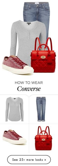 Untitled #13870 by nanette-253 on Polyvore featuring Paige Denim, Topshop, Mulberry, Converse, women's clothing, women's fashion, women, female, woman and misses