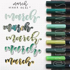 Best Bullet Journal Fonts and Headers for Every Month - The Smart Wander Bullet Journal Headings, Bullet Journal Title Page, December Bullet Journal, Journal Fonts, Bullet Journal Tracker, Bullet Journal Hacks, Bullet Journals, Bullet Journal Inspiration, Journal Ideas