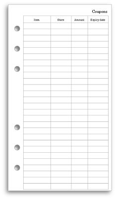 My Life All in One Place: Make your own Filofax coupon tracking envelope