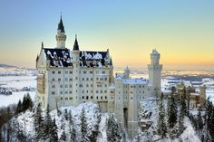 Schloss Neuschwanstein, Germany (amazing castle, even more in snow)