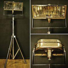 Projecteur de cinéma en métal chromé