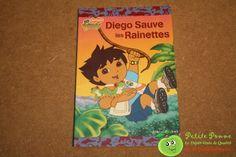 """Livre souple Go Diego! """"Diego sauve les rainettes"""" - Nickelodéon - Editions Albin Michel"""