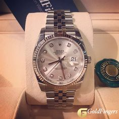 Rolex Datejust 116234 Silver Diamond... ⌚️🔝✨😍