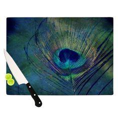 "Robin Dickinson ""Plume"" Cutting Board from KESS InHouse"