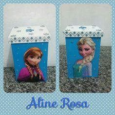Caixa decorada frozen