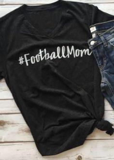 Football Mom Tee T -