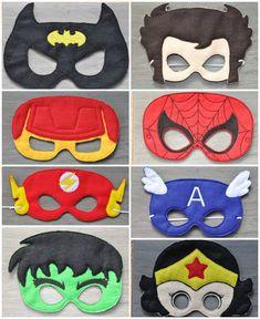 Halloween Crafts For Kids, Diy Crafts For Kids, Felt Mask, Avengers Birthday, Diy Mask, Mask For Kids, Felt Crafts, Birthday Decorations, Sewing Projects