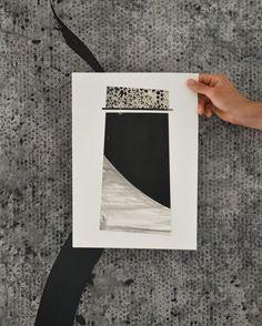 Medio a3 Original mezclado pintura abstracta collage sobre papel-collage arte moderno collages abstractos arte Arte/tinta/geométricos/original, único /