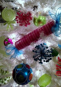 Tree Candy ~ How to make – Large, faux CHRISTMAS CANDY Decorations {Tutorial}