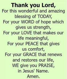 Thank you precious Lord! God bless you sweet Cynthia J. Prayer Of Praise, Prayer Of Thanks, Prayer For Today, Prayer Verses, Faith Prayer, God Prayer, Prayer Quotes, Faith Quotes, Bible Quotes