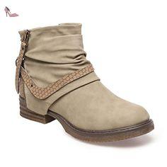 La Modeuse - Bottines en simili cuir à talon carré - Chaussures la modeuse (*Partner-Link)