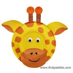 Giraffe paper plate craft