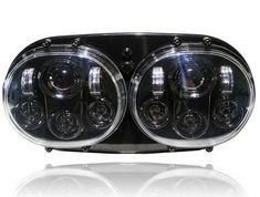 Dual LED Headlight for Harley Road Glide Black