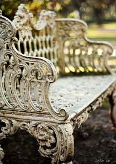 Ornate vintage garden bench
