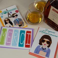 Greeting Cards (nellycastro.de)  #merci #paris #greetingcards #nellycastro #girls