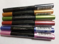 Lot Of 6 CoverGirl Flamed Out Shadow Pencils 310 315 330 360 365 370 Mixed  #CoverGirl