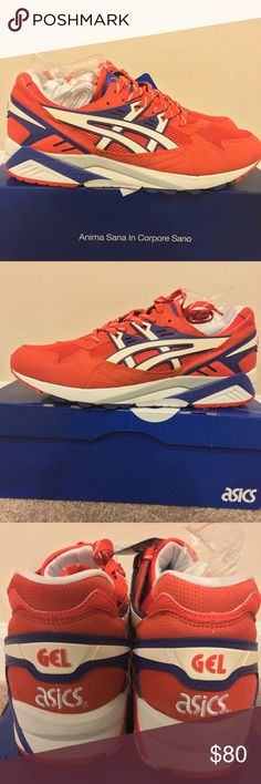 Men's Asics Gel-Kayano Trainer Men's Asics Gel-Kayano Trainer. Brand new, never been worn. Comes with original box. Color: orange.com/white Asics Shoes Sneakers
