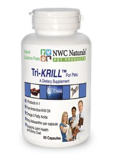 Tri-KRILL™ Capsules for Pets  with 6 mg Astaxanthin per Cap