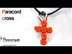 How To Tie A Paracord Chinese Crown Knot Knotted Cross - YouTube