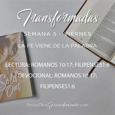 Transformadas. Guía de lectura y devocional. Viernes. Semana 5  #Transformada #DiscipulosdeJesus #ComunidadADG #Devocionalparamujeres #ADGenespanol (sin ñ) #AmaaDiosGrandemente #Biblia #Dios