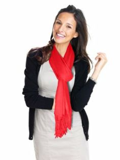 Women's Silky Soft Pashmina Scarf Wrap Bright Colors would be awesome in aqua