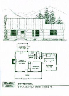 Appalachian Log & Timber Homes Buffalo Trail Log Cabin, Hybrid Home Floor Plan
